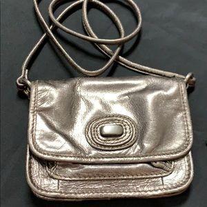 Fossil metallic mini bag